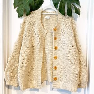Lucky Brand Chunk Knit Button Front Cardigan